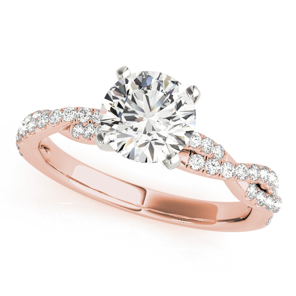 Twist Design Engagement Ring McKenzie & Smiley Jewelers