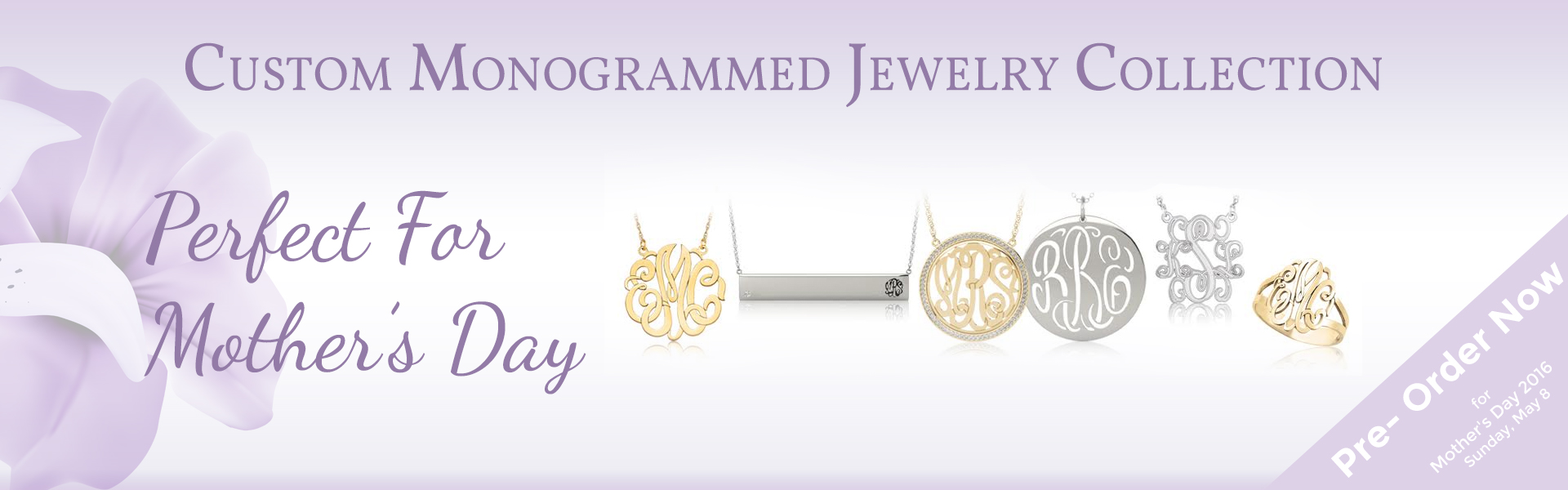 Custom  Monogrammed Jewelry Collection