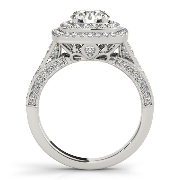 Vintage Double Halo Engagement Ring