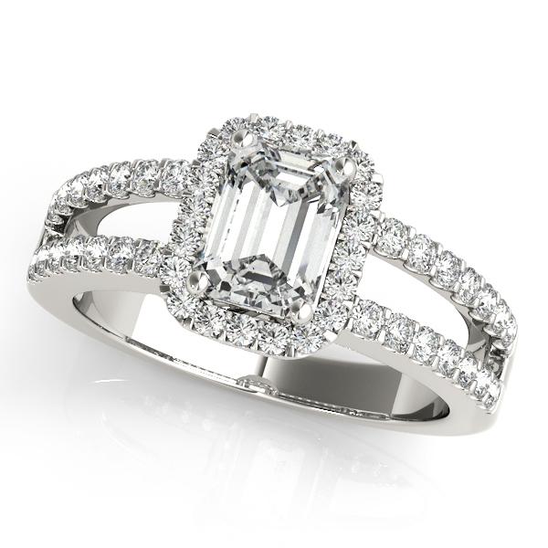 f79dd61dad6a Split Shank Halo Ring – McKenzie   Smiley Jewelers