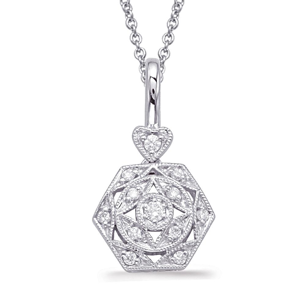 Simple art deco diamond pendant mckenzie smiley jewelers simple art deco diamond pendant aloadofball Images