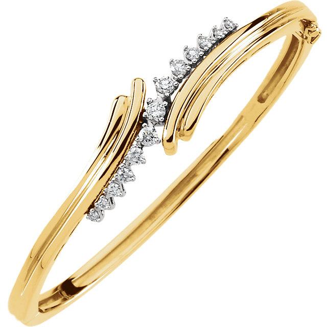 1 2ct Diamond Bangle Bracelet